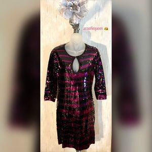 NWOT MODA Stretch sequin dress